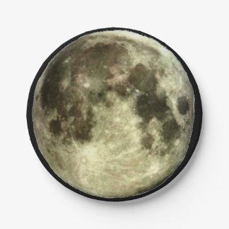 Full Moon Paper Plate