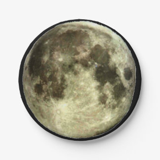 Full Moon Paper Plate. 7 Inch Paper Plate