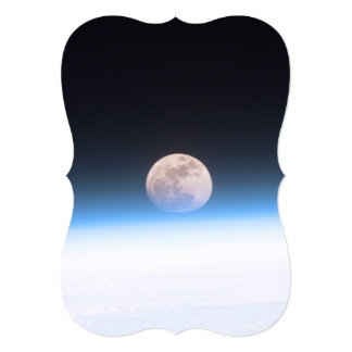 Full moon partially obscured by atmosphere card