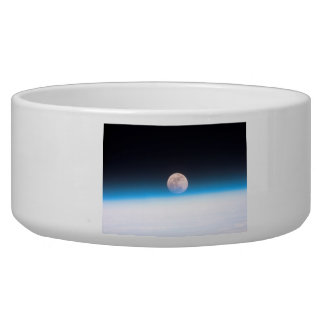 Full moon partially obscured by atmosphere pet bowl