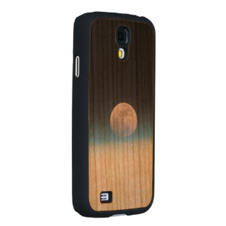 Full moon partially obscured by atmosphere carved® cherry galaxy s4 slim case
