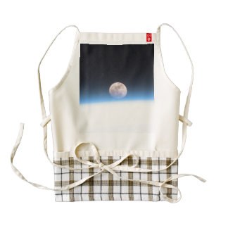 Full moon partially obscured by atmosphere zazzle HEART apron