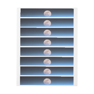 Full moon partially obscured by atmosphere wraparound address label