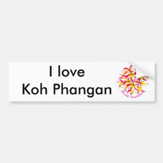 Full Moon party Koh Phangan Car Bumper Sticker