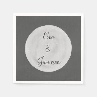 Full Moon Personalized Paper Napkins