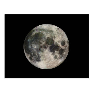 Full Moon Photograph Galileo Postcard
