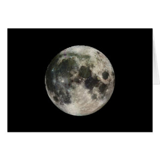 Full Moon Photography Card