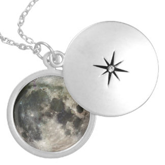 Full Moon Photography Personalized Necklace