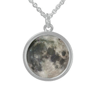 Full Moon Photography Sterling Silver Necklace