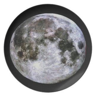 Full Moon Plate. Melamine Plate