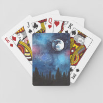 Full Moon Playing Cards Witch Wicca Werewolf Cards