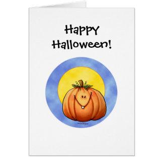 Full Moon Pumpkin Card