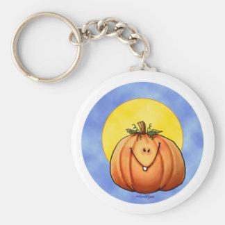 Full Moon Pumpkin Basic Round Button Keychain