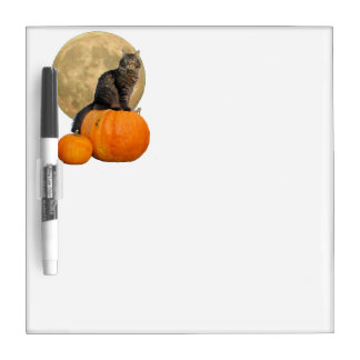 Full Moon, Pumpkins and Grumpy Angel Dry Erase Board
