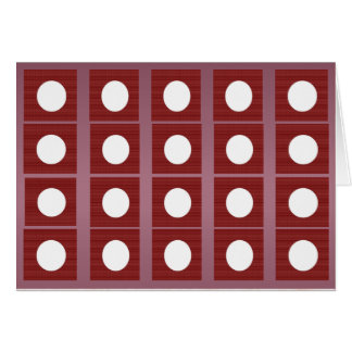 Full Moon Red Base  - Buy Blank or Add own Text Cards