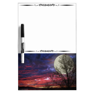 Full Moon Red Sky Decorative Whiteboard