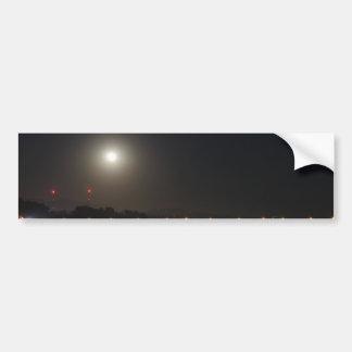 Full Moon Rise Car Bumper Sticker