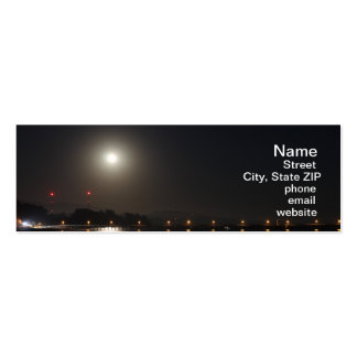Full Moon Rise Business Card Templates