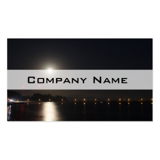 Full Moon Rise Business Card Template