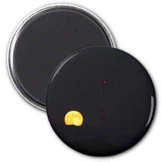 Full Moon Rise 2 Inch Round Magnet