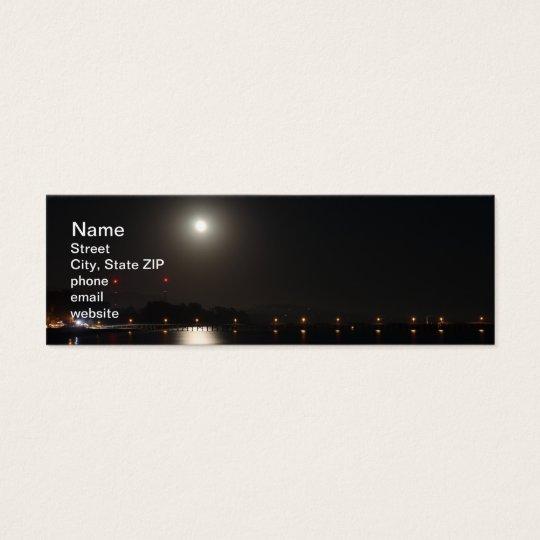 Full Moon Rise Mini Business Card
