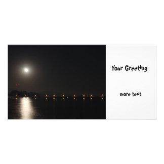Full Moon Rise Photo Card Template