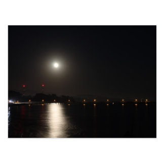 Full Moon Rise Postcard
