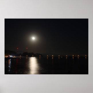 Full Moon Rise Poster