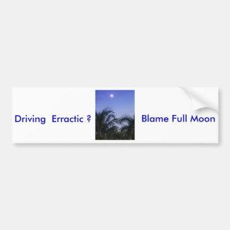 Full Moon Rises Car Bumper Sticker