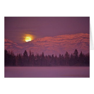 Full moon rises over Teakettle Mountain during Card
