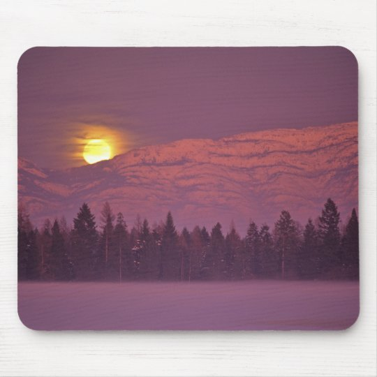 Full moon rises over Teakettle Mountain during Mouse Pad