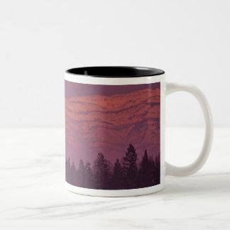 Full moon rises over Teakettle Mountain during Two-Tone Coffee Mug