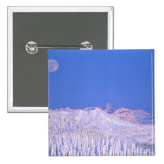 Full moon rising above Glacier National Park Pinback Button