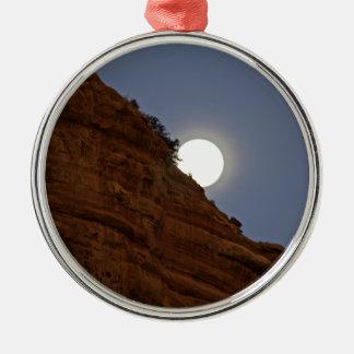 Full moon rising over Sedona Metal Ornament