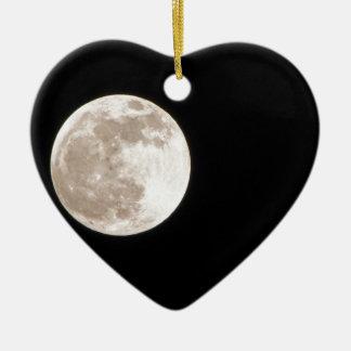 Full Moon Rising photograph Ceramic Ornament