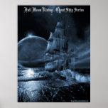 Full moon rising poster print