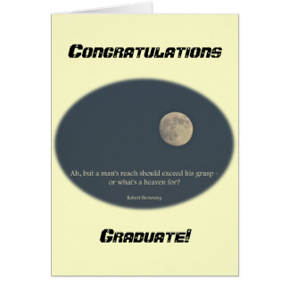 Full Moon Robert Browning Quote Card
