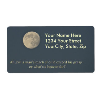 Full Moon Robert Browning Quote Shipping Label
