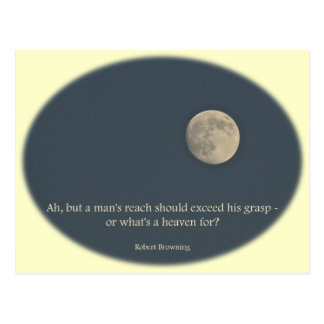 Full Moon Robert Browning Quote Postcard