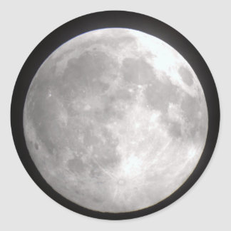 Full Moon Round Stickers
