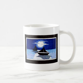 full moon sailing coffee mug