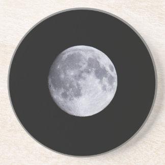 Full moon sandstone coaster