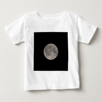 Full moon seen with a telescope at night baby T-Shirt