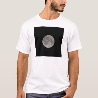 Full moon seen with a telescope at night T-Shirt