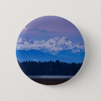 Full Moon setting over the Julian Alps Pinback Button