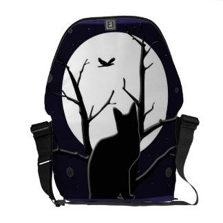 Full Moon Silhouette Messenger Bag