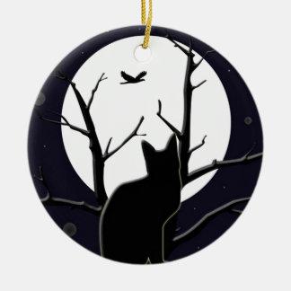Full Moon Silhouette Ornament