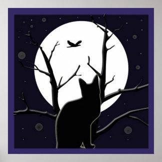 Full Moon Silhouette Print