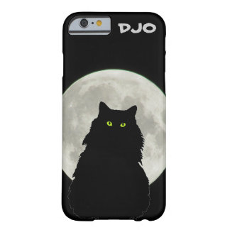 Full Moon Sitting Black Cat Barely There iPhone 6 Case