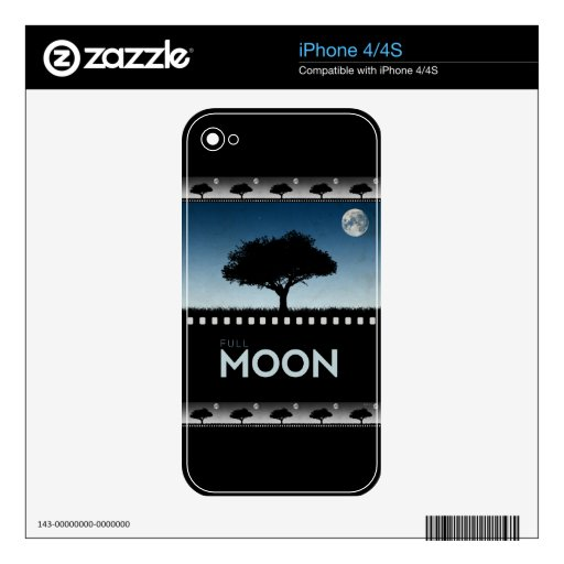 Full Moon Decals For The iPhone 4